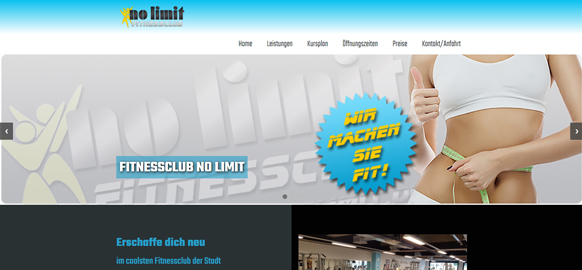 Referenz: Fitnessclub No Limit - Responsive Webdesign